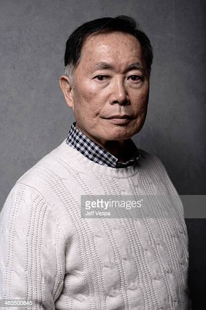 Actor George Takei poses for a portrait during the 2014 Sundance Film Festival at the WireImage Portrait Studio at the Village At The Lift Presented...
