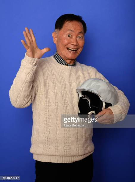 Actor George Takei poses for a portrait during the 2014 Sundance Film Festival at the Getty Images Portrait Studio at the Village At The Lift...