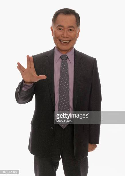 Actor George Takei poses for a portrait in the TV Guide Portrait Studio at the 3rd Annual Streamy Awards at Hollywood Palladium on February 17 2013...