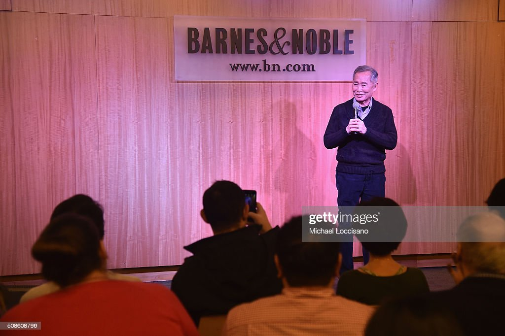 Actor George Takei promotes the original Broadway cast recording of 'Allegiance' at Barnes & Noble, 86th & Lexington on February 5, 2016 in New York City.