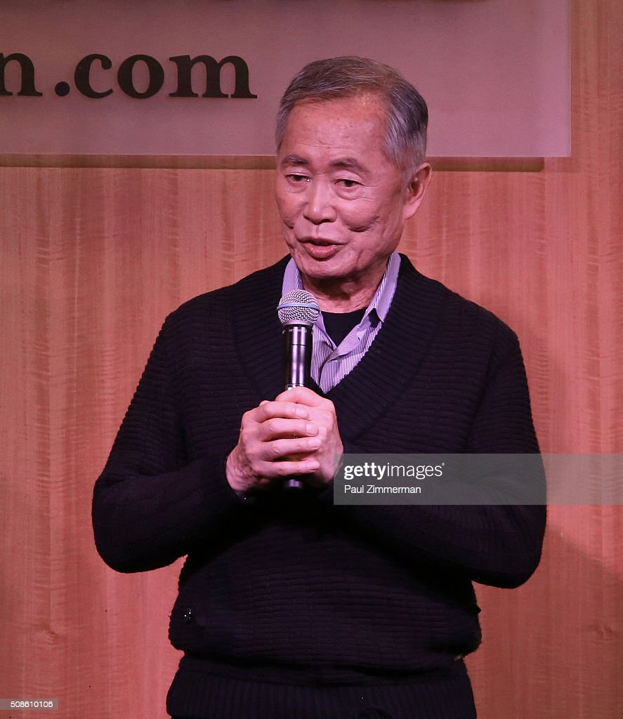 Actor <a gi-track='captionPersonalityLinkClicked' href=/galleries/search?phrase=George+Takei&family=editorial&specificpeople=1534988 ng-click='$event.stopPropagation()'>George Takei</a> promotes the original Broadway cast recording of 'Allegiance' at Barnes & Noble, 86th & Lexington on February 5, 2016 in New York City.