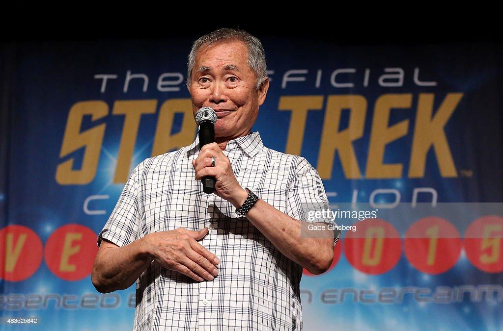 Actor George Takei speaks during the 14th annual official Star Trek convention at the Rio Hotel & Casino on August 9, 2015 in Las Vegas, Nevada.