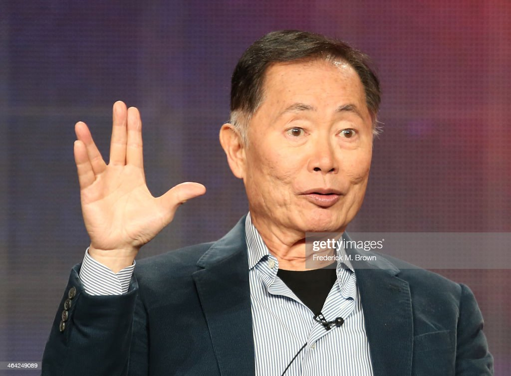 Actor <a gi-track='captionPersonalityLinkClicked' href=/galleries/search?phrase=George+Takei&family=editorial&specificpeople=1534988 ng-click='$event.stopPropagation()'>George Takei</a> speaks onstage during the 'Pioneers of Television, Season 4, 'Acting Funny', 'Breaking Barriers', 'Doctors and Nurses', and 'Standup to Sitcom' ' panel discussion at the PBS portion of the 2014 Winter Television Critics Association tour at Langham Hotel on January 21, 2014 in Pasadena, California.