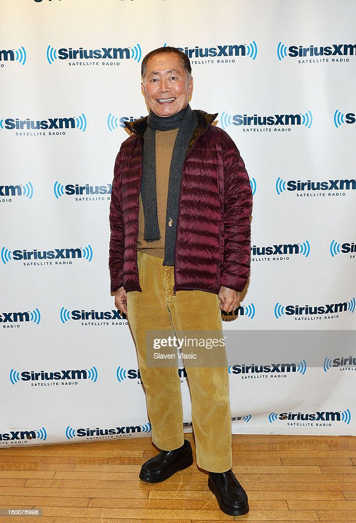 Actor <a gi-track='captionPersonalityLinkClicked' href=/galleries/search?phrase=George+Takei&family=editorial&specificpeople=1534988 ng-click='$event.stopPropagation()'>George Takei</a> visits SiriusXM Studios on January 25, 2013 in New York City.