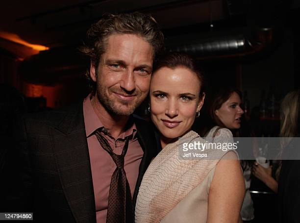 Actor Gerard Butler and Actress Juliette Lewis attend the 'Weinstein Party Including Butter Cast' hosted by GREY GOOSE Vodka at Soho House Pop Up...