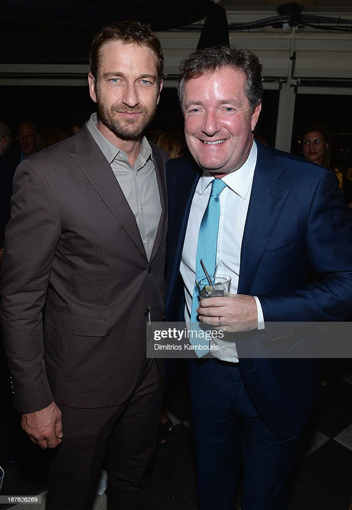 Actor Gerard Butler and journalist Piers Morgan attend The New Yorker's David Remnick Hosts White House Correspondents' Dinner Weekend Pre-Party at W Hotel Rooftop on April 26, 2013 in Washington, DC.