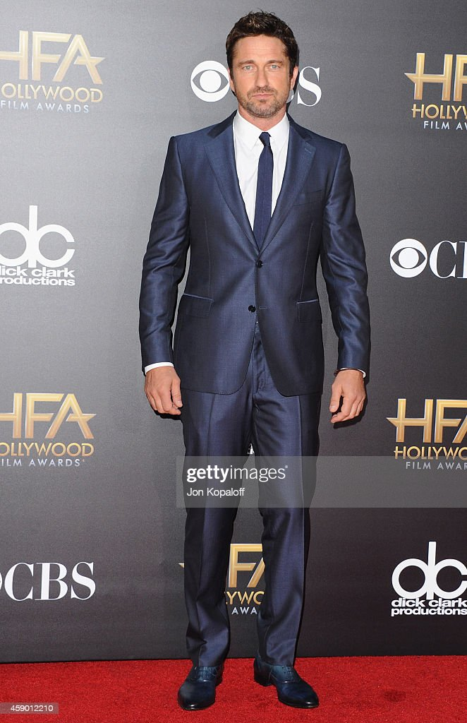 Actor <a gi-track='captionPersonalityLinkClicked' href=/galleries/search?phrase=Gerard+Butler+-+Actor&family=editorial&specificpeople=202258 ng-click='$event.stopPropagation()'>Gerard Butler</a> arrives at the 18th Annual Hollywood Film Awards at Hollywood Palladium on November 14, 2014 in Hollywood, California.