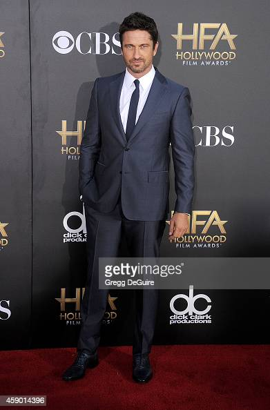Actor Gerard Butler arrives at the 18th Annual Hollywood Film Awards at The Palladium on November 14 2014 in Hollywood California