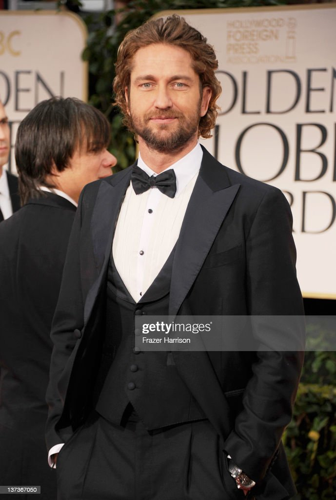 Actor Gerard Butler arrives at the 69th Annual Golden Globe Awards held at the Beverly Hilton Hotel on January 15, 2012 in Beverly Hills, California.