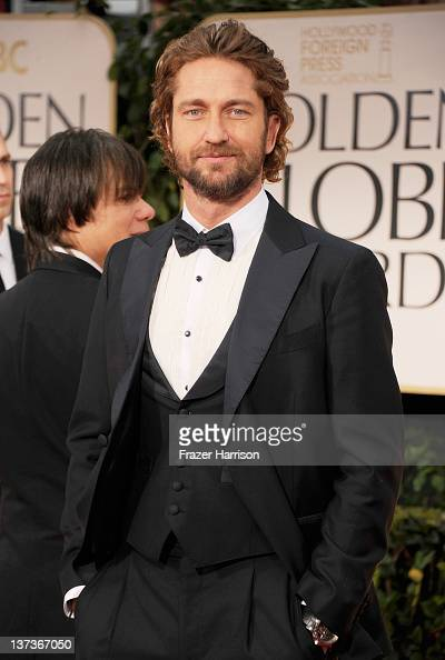 Actor Gerard Butler arrives at the 69th Annual Golden Globe Awards held at the Beverly Hilton Hotel on January 15 2012 in Beverly Hills California