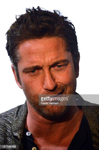 Actor Gerard Butler arrives at the special Children's Hospital Los Angeles' Benefit screening of 'Playing For Keeps' at ArcLight Hollywood on...