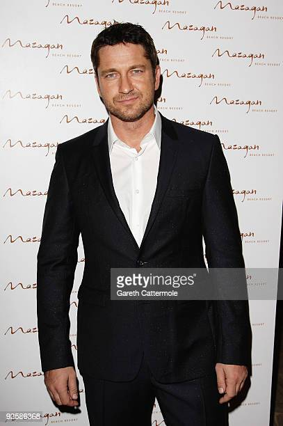 Actor Gerard Butler arrives for the grand opening night of the Kerzner Mazagan Beach Resort on October 31 2009 in El Jadida Morocco 1500 guest guests...