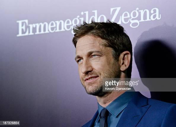 Actor Gerard Butler arrives to the Ermenegildo Zegna Global Store Opening hosted by Gildo Zegna and Stefano Pilati at Ermenegildo Zegna Boutique on...