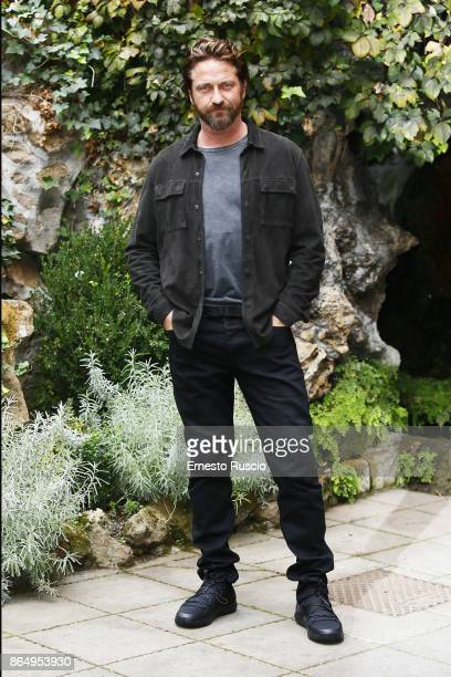 Actor Gerard Butler attends a photocall for Geostorm at Hotel De Russie on October 22 2017 in Rome Italy