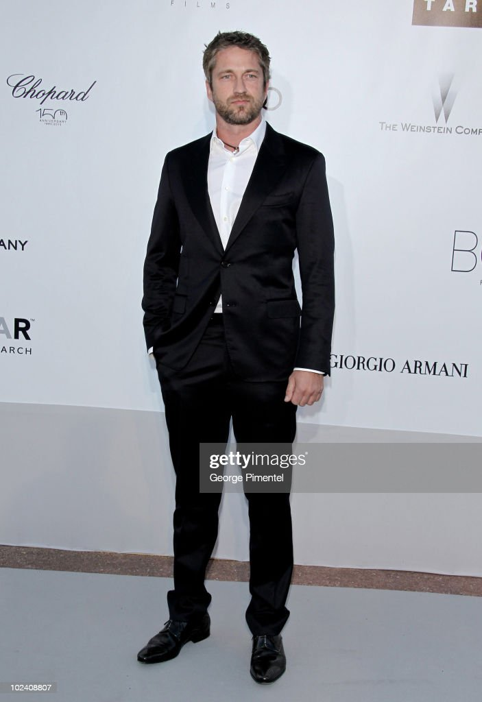 Actor Gerard Butler attends amfAR's Cinema Against AIDS Gala at the Hotel Du Cap during the 63rd International Cannes Film Festival on May 20, 2010 in Antibes, France.