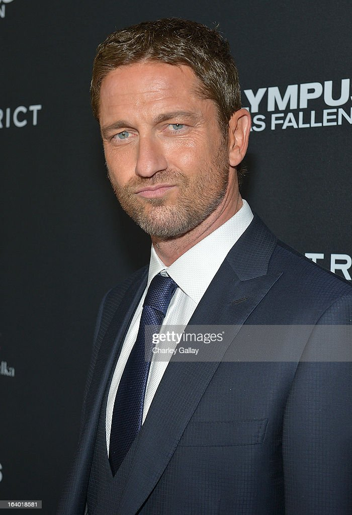 Actor <a gi-track='captionPersonalityLinkClicked' href=/galleries/search?phrase=Gerard+Butler+-+Actor&family=editorial&specificpeople=202258 ng-click='$event.stopPropagation()'>Gerard Butler</a> attends Brioni Sponsors Film District's World Premiere Of 'Olympus Has Fallen' ArcLight Cinemas on March 18, 2013 in Hollywood, California.