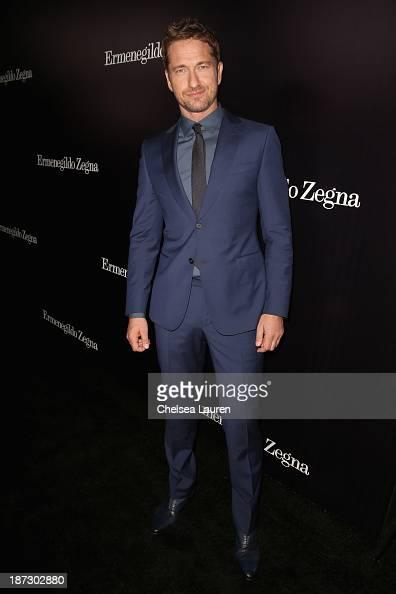 Actor Gerard Butler attends Ermenegildo Zegna Global Store Opening hosted by Gildo Zegna and Stefano Pilati at Ermenegildo Zegna Boutique on November...