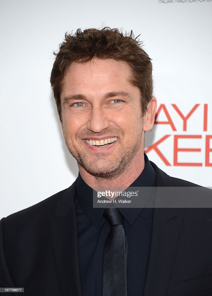 Actor <a gi-track='captionPersonalityLinkClicked' href=/galleries/search?phrase=Gerard+Butler+-+Actor&family=editorial&specificpeople=202258 ng-click='$event.stopPropagation()'>Gerard Butler</a> attends Film District And Chrysler With The Cinema Society Premiere Of 'Playing For Keeps' at AMC Lincoln Square Theater on December 5, 2012 in New York City.