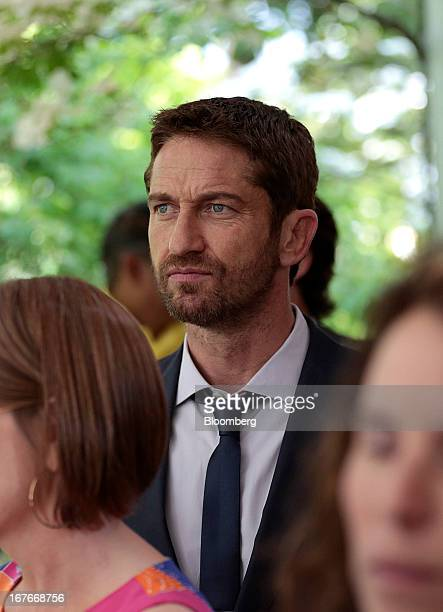 Actor Gerard Butler attends the 20th Annual White House Correspondents' Garden Brunch in Washington DC US on Saturday April 27 2013 This year's event...