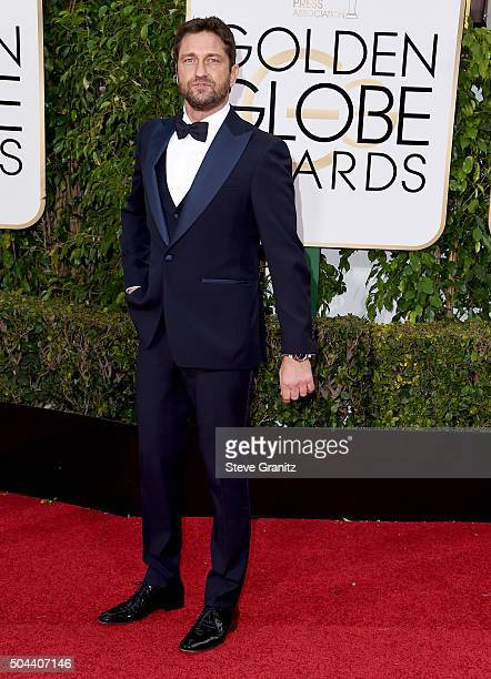 Actor Gerard Butler attends the 73rd Annual Golden Globe Awards held at the Beverly Hilton Hotel on January 10 2016 in Beverly Hills California