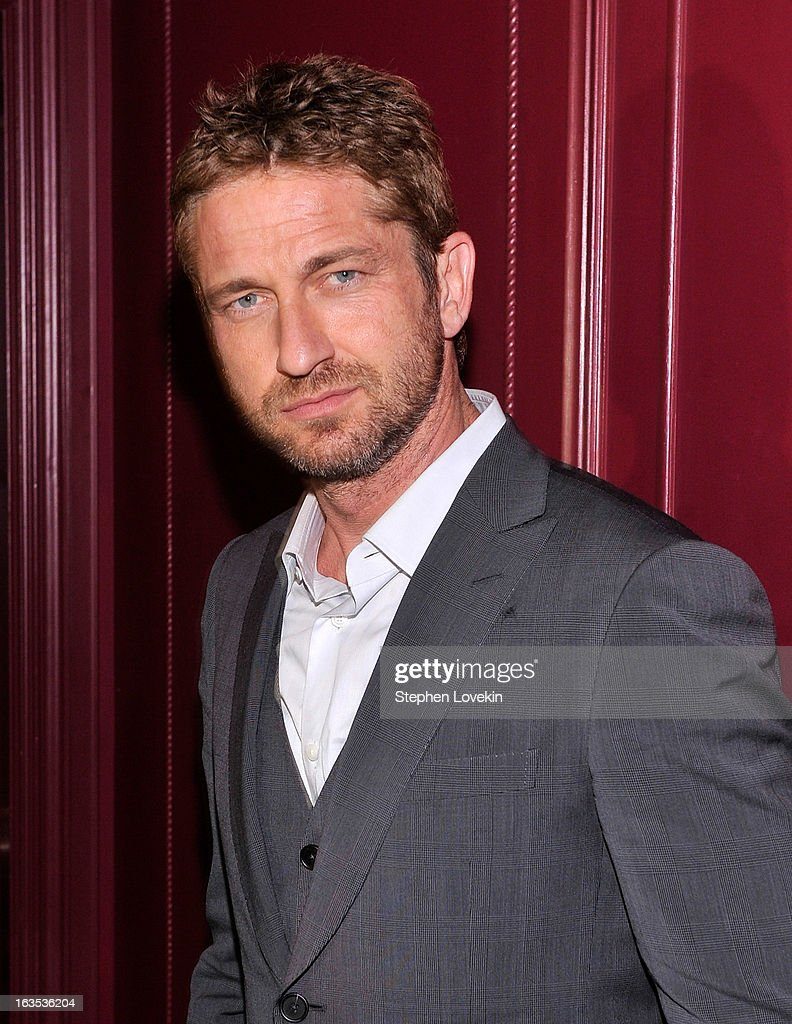 Actor Gerard Butler attends the after party for The Cinema Society with Roger Dubuis and Grey Goose screening of FilmDistrict's 'Olympus Has Fallen'...