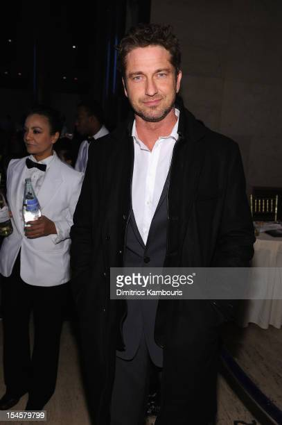 Actor Gerard Butler attends the Angel Ball 2012 hosted by Gabrielle's Angel Foundation at Cipriani Wall Street on October 22 2012 in New York City