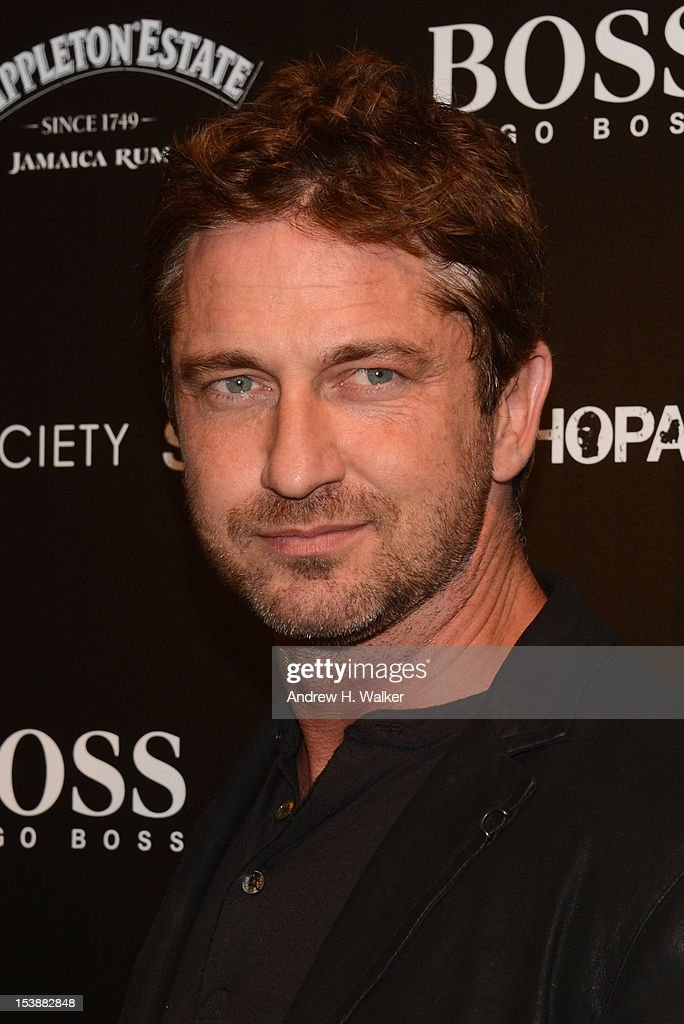 Actor Gerard Butler attends The Cinema Society And CBS Films Screening Of 'Seven Psychopaths' at Clearview Chelsea Cinemas on October 10, 2012 in New York City.