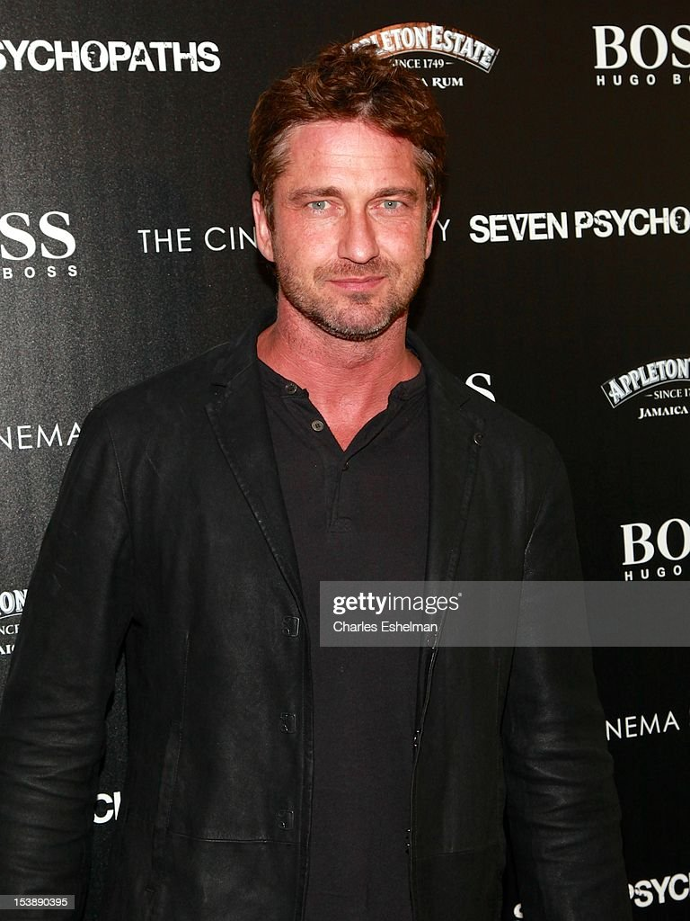 Actor <a gi-track='captionPersonalityLinkClicked' href=/galleries/search?phrase=Gerard+Butler+-+Actor&family=editorial&specificpeople=202258 ng-click='$event.stopPropagation()'>Gerard Butler</a> attends The Cinema Society with Hugo Boss and Appleton Estate screening of 'Seven Psychopaths' at Clearview Chelsea Cinemas on October 10, 2012 in New York City.
