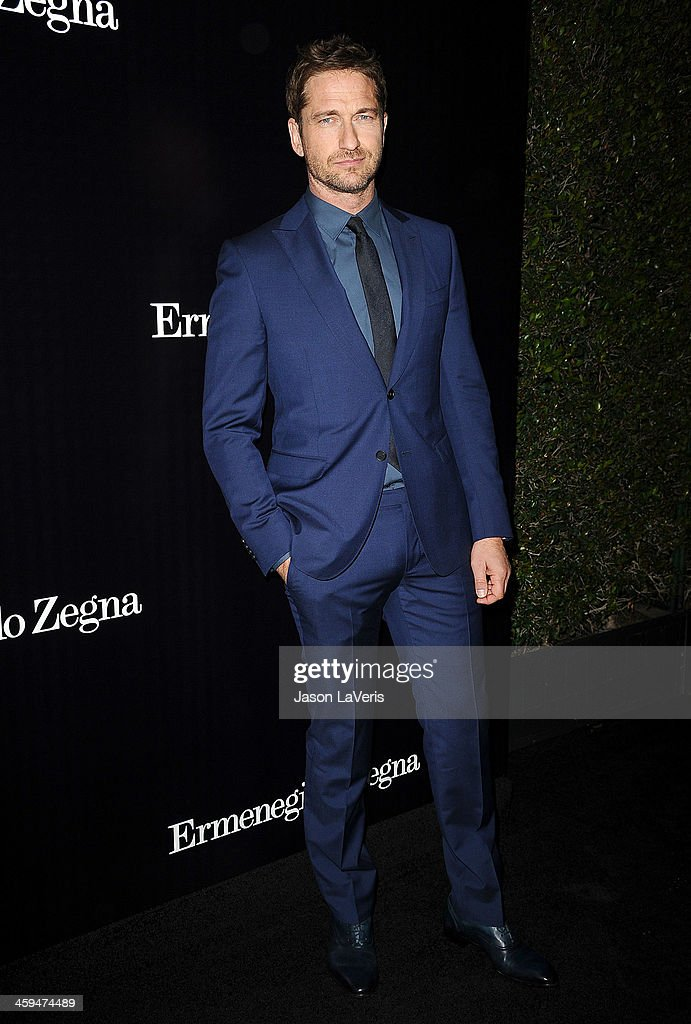 Actor <a gi-track='captionPersonalityLinkClicked' href=/galleries/search?phrase=Gerard+Butler&family=editorial&specificpeople=202258 ng-click='$event.stopPropagation()'>Gerard Butler</a> attends the Ermenegildo Zegna Boutique grand opening on November 7, 2013 in Beverly Hills, California.