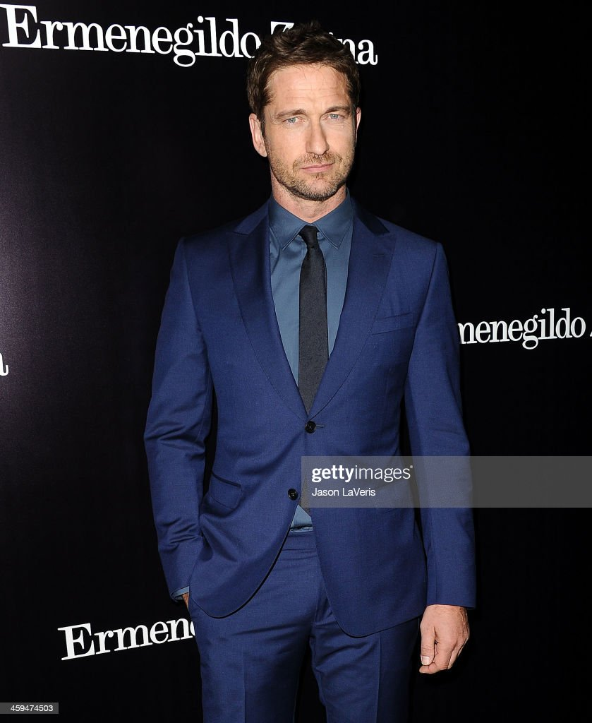 Actor <a gi-track='captionPersonalityLinkClicked' href=/galleries/search?phrase=Gerard+Butler+-+Actor&family=editorial&specificpeople=202258 ng-click='$event.stopPropagation()'>Gerard Butler</a> attends the Ermenegildo Zegna Boutique grand opening on November 7, 2013 in Beverly Hills, California.