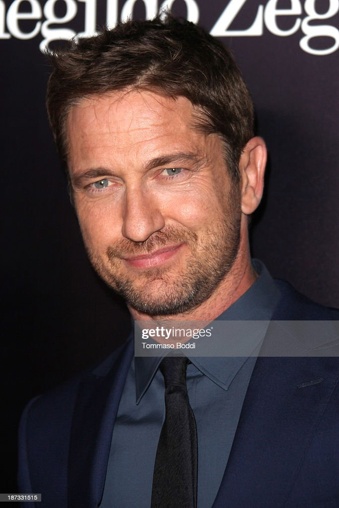 Actor <a gi-track='captionPersonalityLinkClicked' href=/galleries/search?phrase=Gerard+Butler+-+Actor&family=editorial&specificpeople=202258 ng-click='$event.stopPropagation()'>Gerard Butler</a> attends the Ermenegildo Zegna boutique Rodeo Drive grand opening held at Ermenegildo Zegna Boutique on November 7, 2013 in Beverly Hills, California.