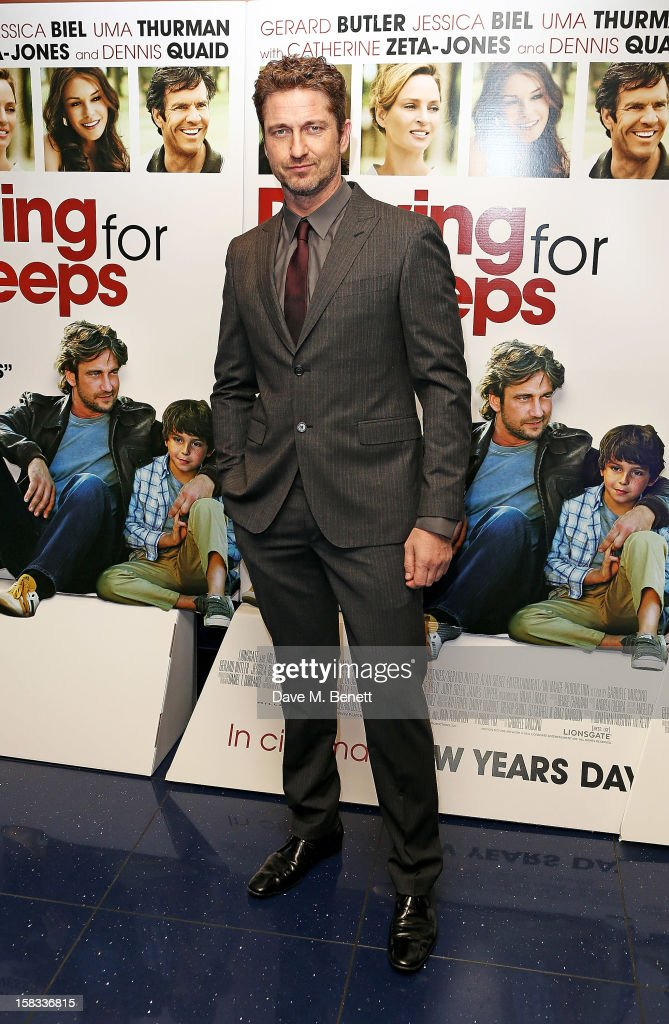 Actor <a gi-track='captionPersonalityLinkClicked' href=/galleries/search?phrase=Gerard+Butler&family=editorial&specificpeople=202258 ng-click='$event.stopPropagation()'>Gerard Butler</a> attends the Gala screening of 'Playing For Keeps' at Apollo Piccadilly Circus on December 13, 2012 in London, England.