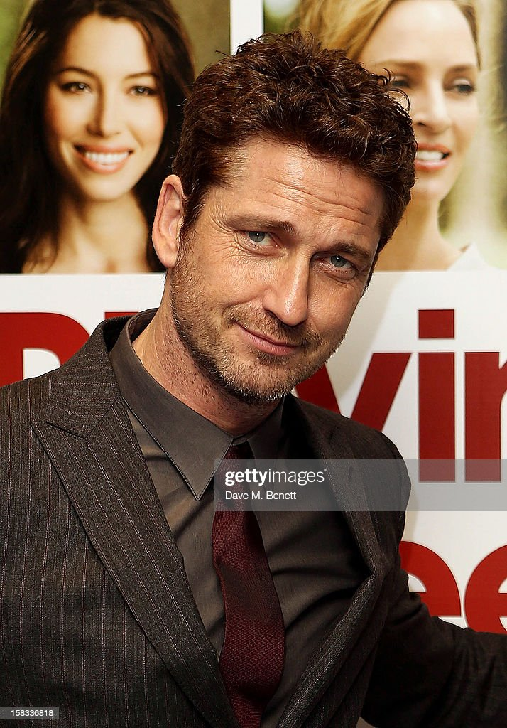 Actor Gerard Butler attends the Gala screening of 'Playing For Keeps' at Apollo Piccadilly Circus on December 13, 2012 in London, England.