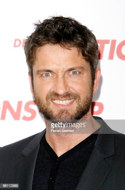 Actor Gerard Butler attends the German photocall of 'Der KautionsCop' at hotel de Rome on March 29 2010 in Berlin Germany