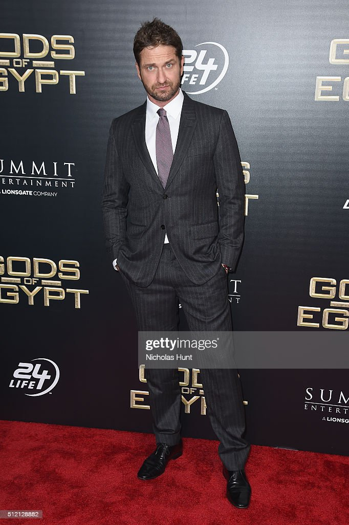 Actor <a gi-track='captionPersonalityLinkClicked' href=/galleries/search?phrase=Gerard+Butler+-+Actor&family=editorial&specificpeople=202258 ng-click='$event.stopPropagation()'>Gerard Butler</a> attends the 'Gods Of Egypt' New York Premiere at AMC Loews Lincoln Square 13 on February 24, 2016 in New York City.