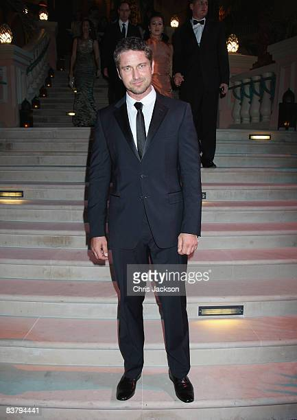 Actor Gerard Butler attends the landmark Grand Opening of Atlantis The Palm Resort and the Palm Jumeirah on November 20 2008 in Dubai United Arab...