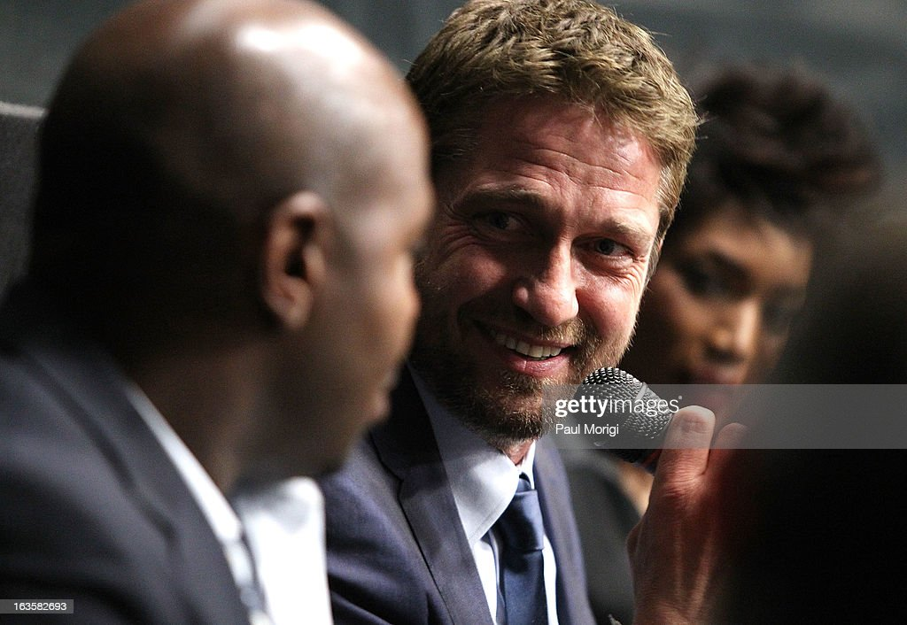 Actor <a gi-track='captionPersonalityLinkClicked' href=/galleries/search?phrase=Gerard+Butler+-+Actor&family=editorial&specificpeople=202258 ng-click='$event.stopPropagation()'>Gerard Butler</a> attends the 'Olympus Has Fallen' screening Q & A session at AMC Loews Georgetown 14 on March 12, 2013 in Washington, DC.
