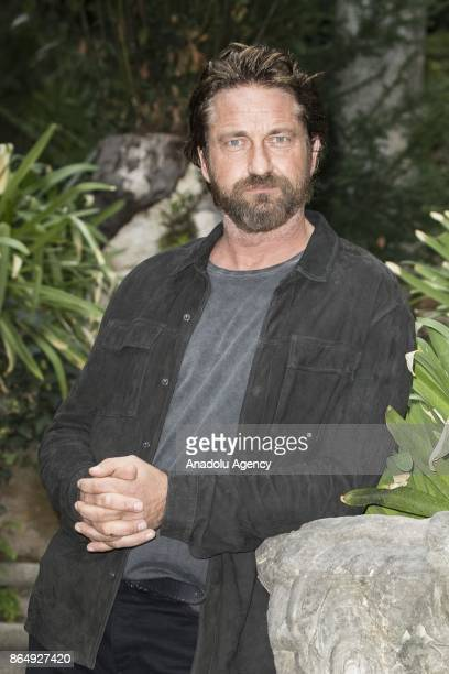 Actor Gerard Butler attends the photocall of movie Geostorm at Hotel de Russie in Rome Italy on October 22 2017