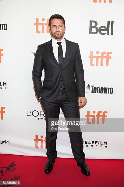 Actor Gerard Butler attends the premier of 'The Headhunter's Calling' at Roy Thomson Hall on September 14 2016 in Toronto Canada