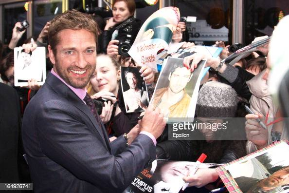 Actor Gerard Butler attends the Premiere of FilmDistrict's 'Olympus Has Fallen' at the '5 Zvezd' on March 29 2013 in Moscow Russia