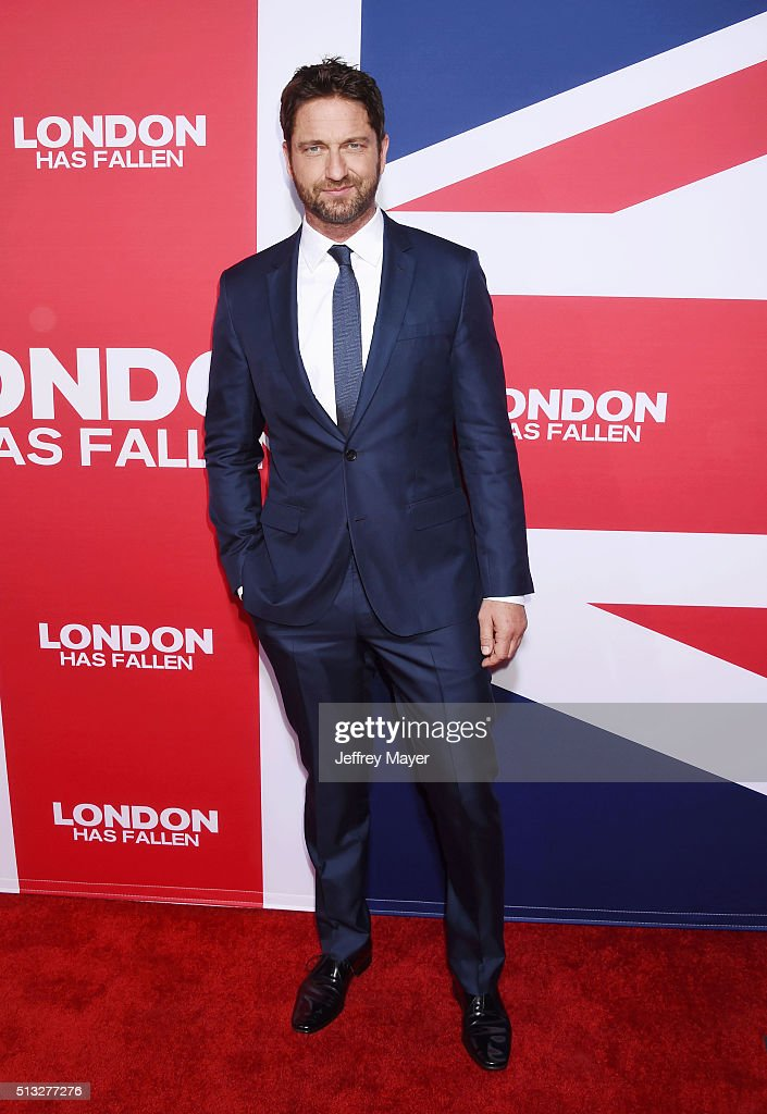 Actor <a gi-track='captionPersonalityLinkClicked' href=/galleries/search?phrase=Gerard+Butler+-+Actor&family=editorial&specificpeople=202258 ng-click='$event.stopPropagation()'>Gerard Butler</a> attends the premiere of Focus Features' 'London Has Fallen' held at ArcLight Cinemas Cinerama Dome on March 1, 2016 in Hollywood, California.