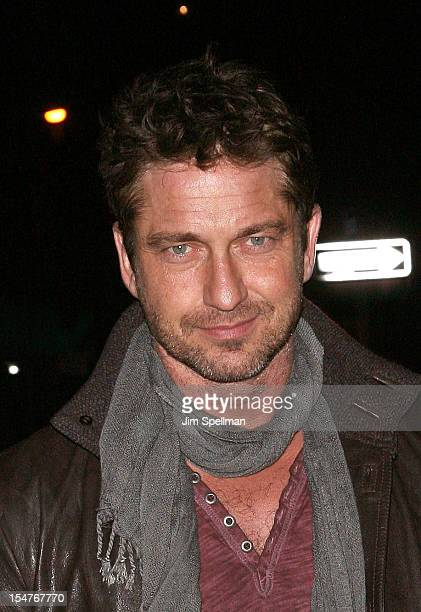 Actor Gerard Butler attends the Weinstein Company Cinema Society Screening Of 'This Must Be The Place' at Tribeca Grand Hotel on October 25 2012 in...
