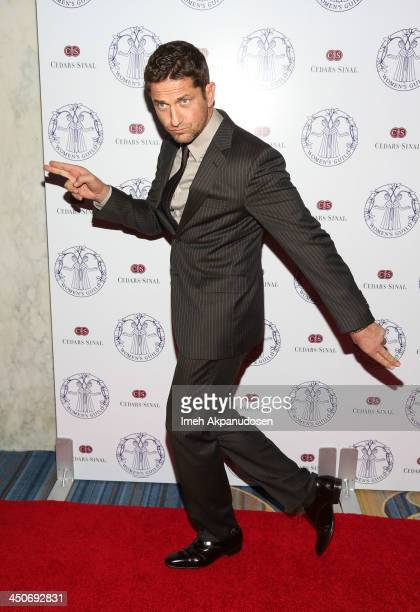 Actor Gerard Butler attends the Women's Guild CedarsSinai Annual Gala at the Beverly Wilshire Four Seasons Hotel on November 19 2013 in Beverly Hills...