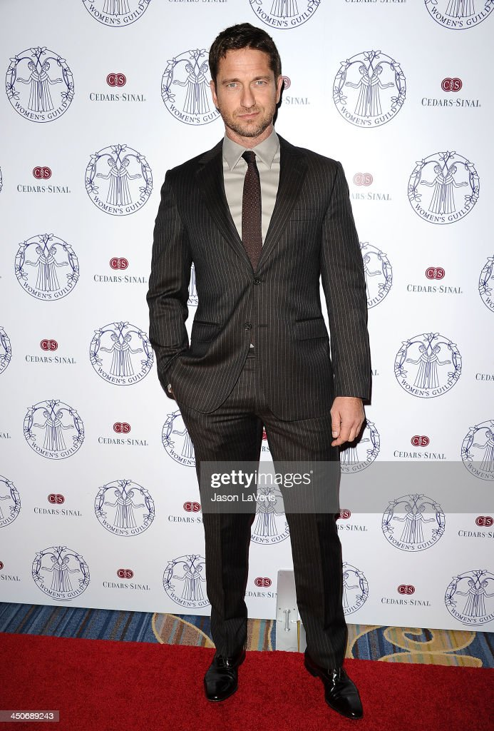 Actor <a gi-track='captionPersonalityLinkClicked' href=/galleries/search?phrase=Gerard+Butler&family=editorial&specificpeople=202258 ng-click='$event.stopPropagation()'>Gerard Butler</a> attends the Women's Guild Cedars-Sinai gala at Regent Beverly Wilshire Hotel on November 19, 2013 in Beverly Hills, California.