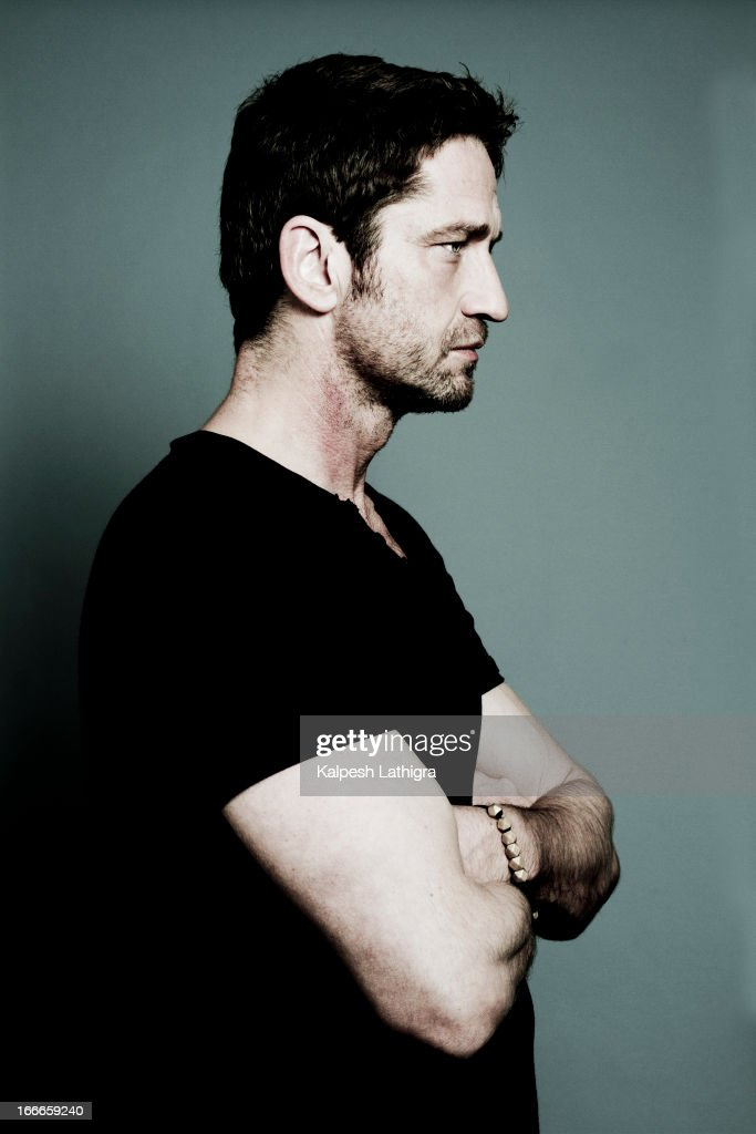 Actor <a gi-track='captionPersonalityLinkClicked' href=/galleries/search?phrase=Gerard+Butler&family=editorial&specificpeople=202258 ng-click='$event.stopPropagation()'>Gerard Butler</a> is photographed for the Independent on April 13, 2013 in London, England.
