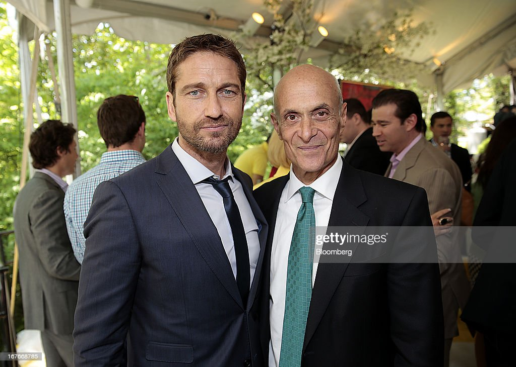 Actor <a gi-track='captionPersonalityLinkClicked' href=/galleries/search?phrase=Gerard+Butler+-+Actor&family=editorial&specificpeople=202258 ng-click='$event.stopPropagation()'>Gerard Butler</a>, left, and <a gi-track='captionPersonalityLinkClicked' href=/galleries/search?phrase=Michael+Chertoff&family=editorial&specificpeople=204729 ng-click='$event.stopPropagation()'>Michael Chertoff</a>, chairman of the Chertoff Group and former secretary of the U.S. Department of Homeland Security, attend the 20th Annual White House Correspondents' Garden Brunch in Washington, D.C., U.S., on Saturday, April 27, 2013. This year's event will honor the Citizens United for Research in Epilepsy (CURE) and the Miss America Foundation. Photographer: Andrew Harrer/Bloomberg via Getty Images