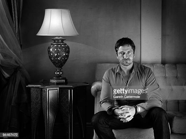 Actor Gerard Butler poses during a portrait session on day seven of the 6th Annual Dubai International Film Festival held at the Madinat Jumeriah...