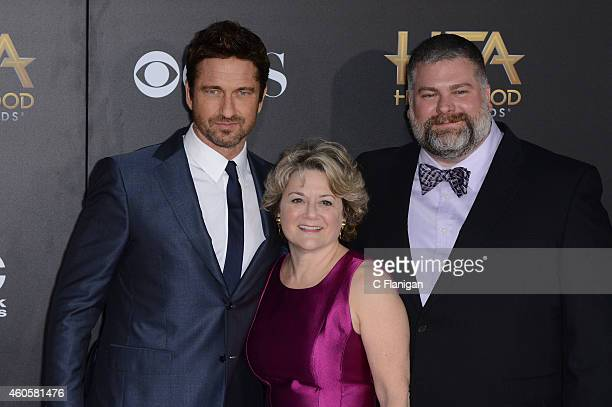 Actor Gerard Butler producer Bonnie Arnold and director Dean DeBlois attend the 18th Annual Hollywood Film Awards at The Palladium on November 14...