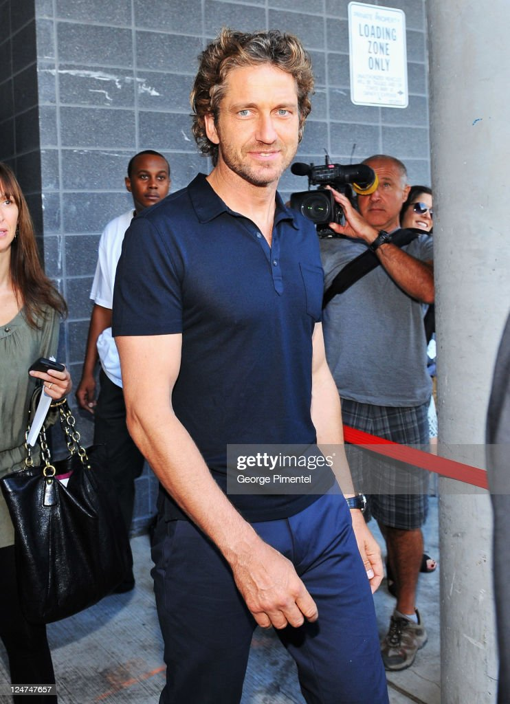 Actor <a gi-track='captionPersonalityLinkClicked' href=/galleries/search?phrase=Gerard+Butler+-+Actor&family=editorial&specificpeople=202258 ng-click='$event.stopPropagation()'>Gerard Butler</a> seen on the streets of Toronto on September 12, 2011 in Toronto, Canada.