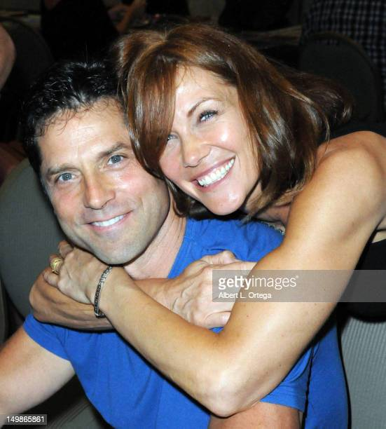 Actor Gerard Christopher and actress Stacy Haiduk participate in The Hollywood Show held at Burbank Airport Marriott Hotel Convention Center on...